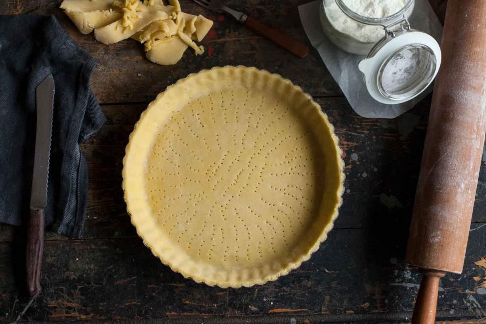 Homemade tart dough, tart crust